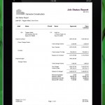 Example of Mobile Tablet Job Status Interface for Sage 100 Contractor