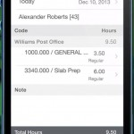 Screenshot of mobile labor costs Sage 100 Contractor