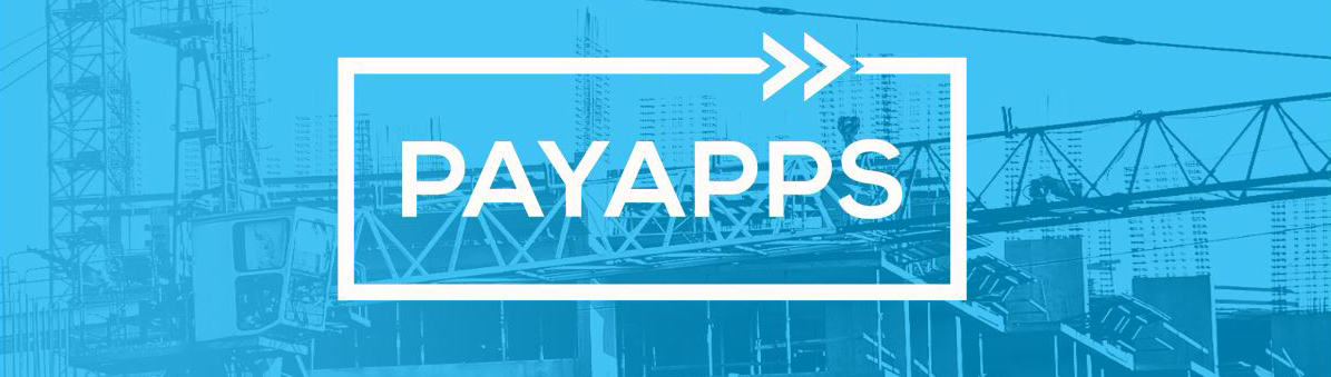 payapps logo with construction image as a background